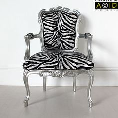 French Zebra Print Chair