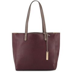 Neiman Marcus Textured Leather Organizer Tote Bag ($66) ❤ liked on Polyvore featuring bags, handbags, tote bags, brown tote purse, top handle purse, neiman marcus tote bag, handbags tote bags and brown tote