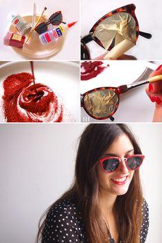 DIY Glitter Framed Sunglasses