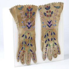 Santee Sioux Beaded Gloves  c. 1900-1910