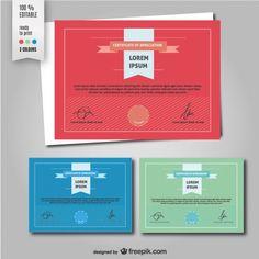minimalist certificate design - Google Search