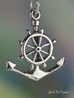 Anchor & Wheel together...tattoo idea. I love the nautical theme.