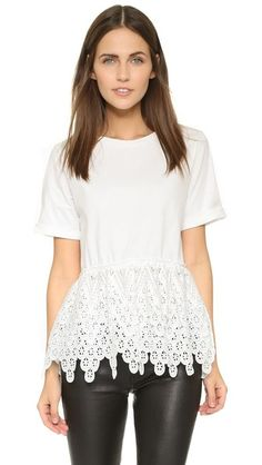endless rose Lace Tee | SHOPBOP