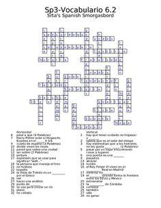 Spanish Avancemos 3 Vocab 6.2 Crossword
