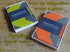 Win a green NoteShel Post-it® note holder via @hisforhome | ends 30th November 2014 #comp #competition #giveaway #win