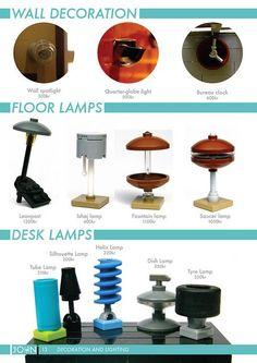 The JOHN Collecton 3 LEGO Microscale lamps (wow!)