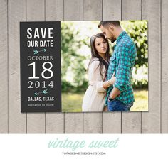 Save the Date Card / Magnet Printable by by vintagesweetdesign, $12.00