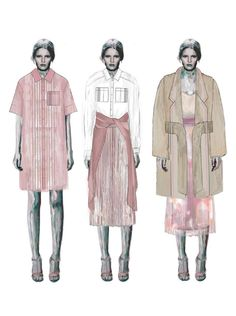 Fashion Sketchbook - fashion illustrations, line up, fashion portfolio // Roberta Einer