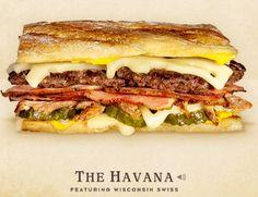 Cheeseburger Hall of fame The Havana #burger #recipe