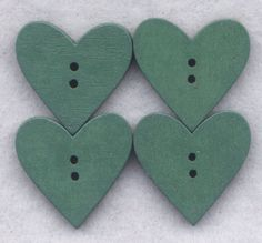 Heart Buttons Decorated Valentine Shape by GloriaPatreSpinNKnit