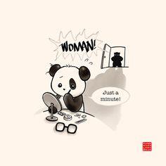 Panda And Polar Bear :: Woman! Cute Panda Cartoon, Panda Funny, Baby Panda Bears, Polar Bear, Panda Lindo, Cute Panda Wallpaper, Panda Bebe, Panda Nursery, Cute Drawings