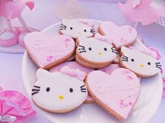 Hello Kitty birthday party cookies! See more party ideas at CatchMyParty.com!