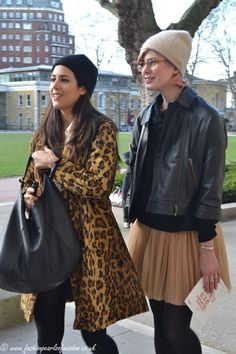 Leopard & leather Glam Rock, London Fashion, Trends, Leather, London Street Fashion