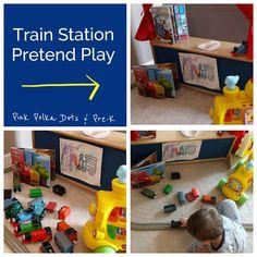 Pink Polka Dots & Pre-K: Transportation Theme Recap - Train Station