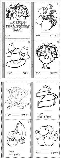 A delightful Thanksgiving mini book for early readers!