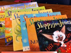 """Skippyjon Jones is one of my favorite characters.  The stories are very entertaining and use Spanish words and phrases.  I like the introduction of Spanish vocabulary and the adventures Skippyjon has with his """"amigos.""""  Judy Schachner, the author, records many of the audiobooks herself, and she is fantastic!  I would like to have a few of those around as well to help with fluency, and allow students at lower reading levels the opportunity to enjoy them."""