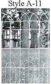 48x100 Double LOOP ORNAMENTAL FENCE A Secret Garden Pinterest