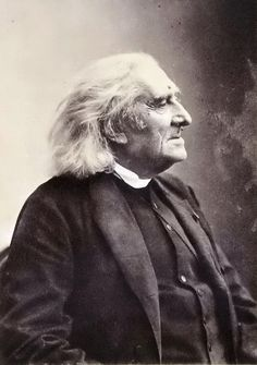 Franz Liszt, composer, c1880   Photographer: Paul Nadar, Paris
