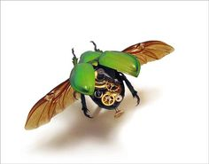 Mike Libby's Steampunk Insects