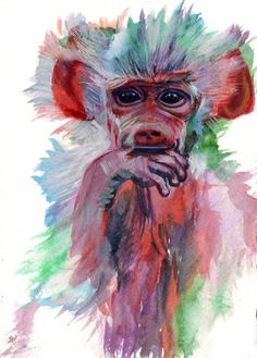 'Keeskleurig' Watercolour on paper 21 x 15 cm