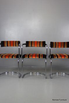 New stock online Set 4 Retro Chrom... Visit website http://kernowfurniture.co.uk/products/set-4-retro-chrome-cantilever-dining-chairs?utm_campaign=social_autopilot&utm_source=pin&utm_medium=pin
