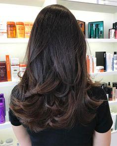 Layered Cut for Dark Hair
