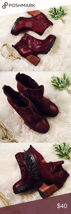 ⚜ CALL IT SPRING ⚜ Merlot Booties Absolutely gorgeous merlot booties from CALL IT SPRING CONDITION: NWOB no issues  CHEST: WAIST: LENGTH: INSEAM: *All measurements taken while item is laid flat (doubled when necessary) and measured across the front  MATERIAL: STRETCH: Call It Spring Shoes Ankle Boots & Booties