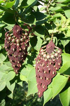 Micro Macrame earrings Handmade by Tribal Treasures