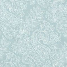 Serendipity Paisley Wallpaper in Aqua Beautimuster! : ). -- ml I'd like to stencil some paisley in white onto the new cabinets