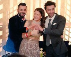 50 best pictures from Anushka Sharma and Virat Kohli's Mumbai reception Anushka Sharma Virat Kohli, Ranbir Kapoor, Bollywood Actors, My Hero, Cool Pictures, Sequin Skirt, Actresses, Formal, Couples