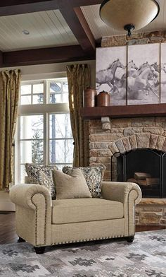 Pin By Meubles Ashley Homestore On Heritage Ashley Furniture Living Room Chair And A Half Home