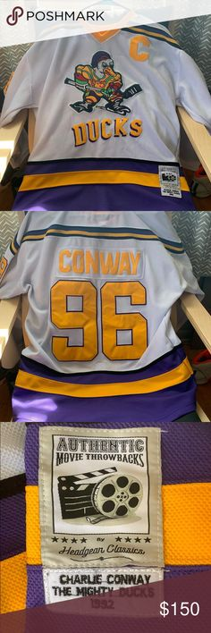 0631fad19 Spotted while shopping on Poshmark: The almighty ducks jersey! #poshmark  #fashion #