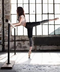 Barre Legging- they have built in stirrups and you can pull them down for outside!