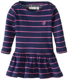 Jojo Maman Bebe Baby-Girls Newborn Breton Dress, Navy/Fuchsia Stripe, 6-12 Months. Our baby clothes are machine washable at 90 degree fahrenheit unless otherwise stated. Only sold and shipped in the USA and Canada.