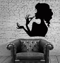 Vinyl Decal Beauty Salon Cosmetics Makeup Woman Girl Room Wall Stickers (ig071)