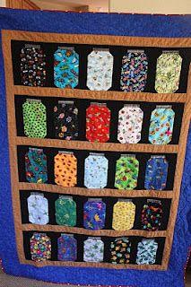 Escaping Bugs Bottle Quilt - Potten, Jongens en Patronen : canning jar quilt pattern - Adamdwight.com