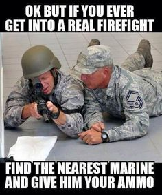 A little jab at my friends in the Air Force. #oohrah
