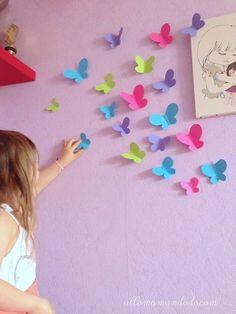 DIY: Envolée de papillons en papier (Activité pour enfants: Déco murale Plus