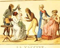 Early 19th century caricature of infant vaccination