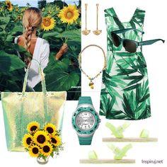Stylizacje dnia z Inspiruj. net – letnie sukienki z liściastym motywem - KobietaMag.pl Polyvore, Image, Fashion, Moda, Fashion Styles, Fashion Illustrations