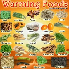 Ayurvedic Warming Foods List