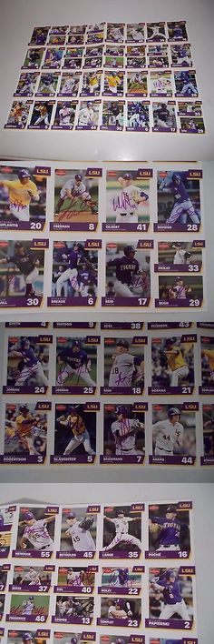 College Cards 133072: Autographed 2017 Lsu Baseball Card Set - Uncut Sheet Of 32 - Sga - 31 Autographs -> BUY IT NOW ONLY: $50 on eBay!