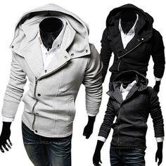 Mens Slim Fit Rider Hood Zip Up Hoodie | Sneak Outfitters