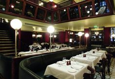 Les deux Salons, London. Parisian themed brasserie located in Covent Garden. We had a marvelous New Years Eve Dinner here.