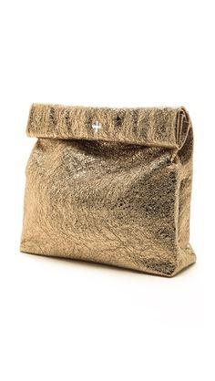 Marie Turnor Accessories The Gold Foil Picnic Clutch