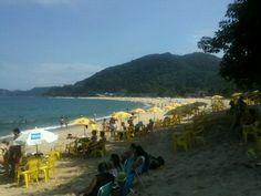 Praia de Boiçucanga em São Sebastião, SP