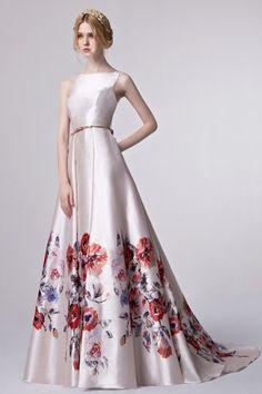 2016 Retro Collection Coniefox Brand Designer Sleeveless Printed  Extreme Luxury  Dark Blue Celebrity Prom Long Dress 31298