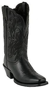 Ariat® Ladies Black Deertan Punchy Square Toe Western Boots
