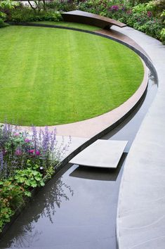 feature, bespoke paving and lawn - what more could you want in a small city garden? maintenance garden landscaping water features Water feature bespoke paving and lawn what more could you want in a small city garden Water Features In The Garden, Garden Features, Wall Water Features, Cheap Landscaping Ideas, Backyard Landscaping, Backyard Ponds, Backyard Designs, Backyard Ideas, Back Gardens