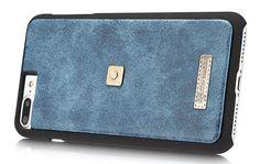 CaseMe 009 iPhone 7 Plus Zipper Wallet Metal Buckle Detachable Folio Case Blue